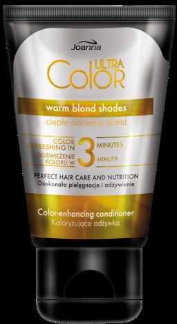 Joanna ULTRA Color SYSTEM Odżywka koloryzująca ciepłe odcienie blond 100g