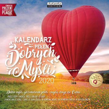 KUKARTKA Kalendarz ścienny na rok 2020 DOBRE MYŚLI + plakat 60x30 cm