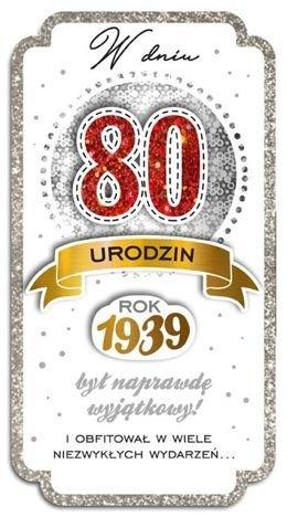 KUKARTKA Kartka W Dniu 80 Urodzin. Wyjątkowa i niepowtarzalna kartka z kolekcji Passion Moments