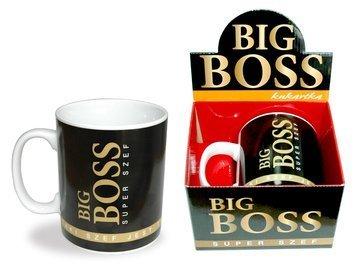 """KUKARTKA Kubek Gigant dla Szefa """"Big Boss"""" poj. aż 0,75 l ! Gigant przez duże G"""