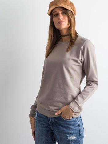 Kawowa bluza damska basic