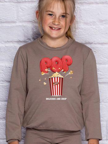 Kawowa bluza dziecięca DELICIOUS POPCORN