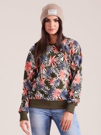 Khaki bawełniana bluza