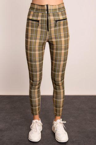 Khaki-beżowe spodnie BSL