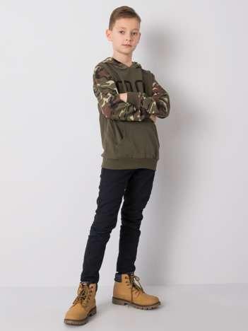 Khaki bluza dla chłopca z napisem