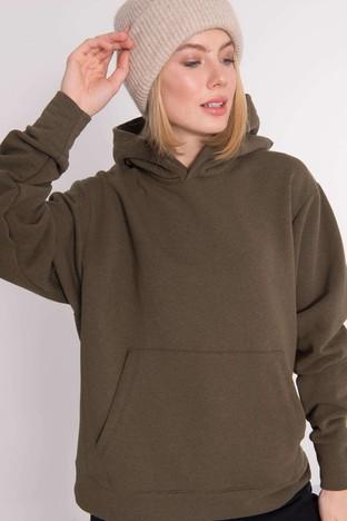 Khaki bluza kangurka z kapturem BSL