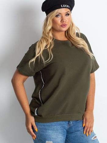 Khaki bluzka plus size Holiday