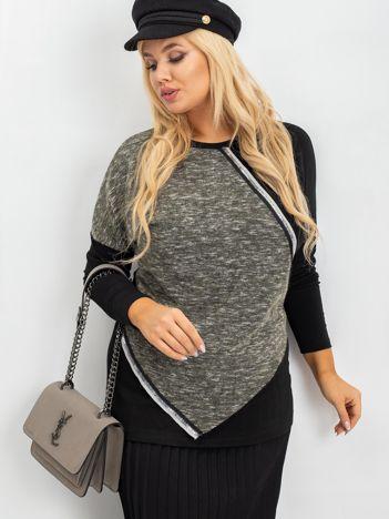 Khaki bluzka plus size Morgan
