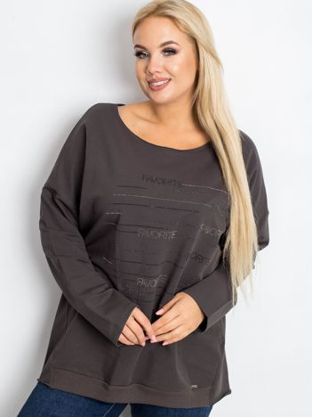 Khaki bluzka plus size Shay