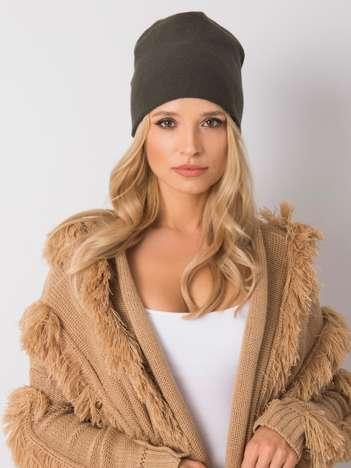 Khaki czapka na zimę