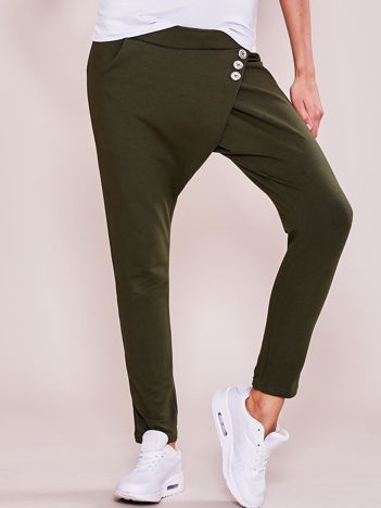 Khaki damskie spodnie dresowe moro