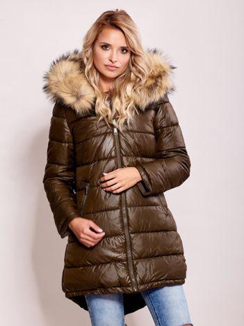 Khaki dwustronna kurtka zimowa