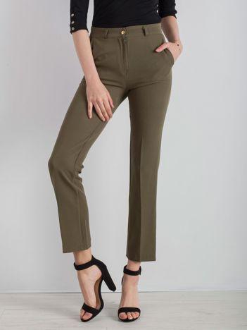 Khaki eleganckie spodnie