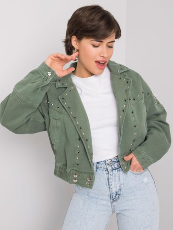 Khaki kurtka jeansowa Calla