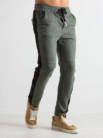 Khaki męskie spodnie dresowe Proof
