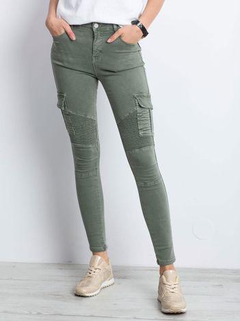 Khaki spodnie Hello