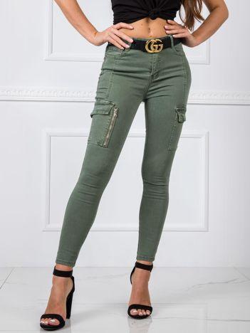 Khaki spodnie Sophia