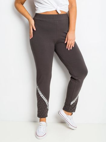 Khaki spodnie plus size Active