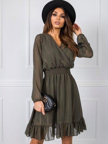 Khaki sukienka Cammy RUE PARIS
