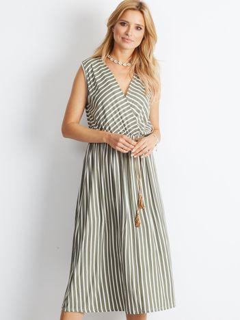 Khaki sukienka Idyllic