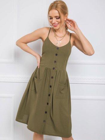 Khaki sukienka Kendra RUE PARIS