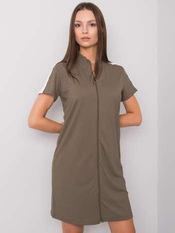 Khaki sukienka na co dzień Seppa RUE PARIS