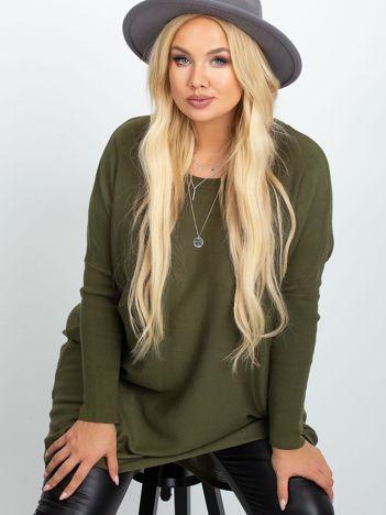 Khaki sweter plus size Ester