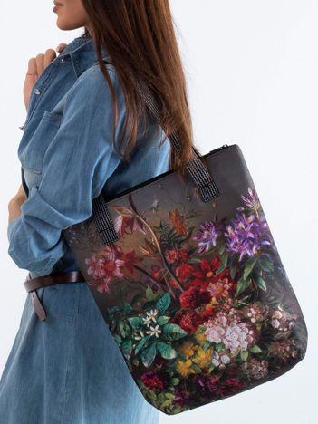 a04442fc3dd9a Khaki torba w kolorowe kwiaty