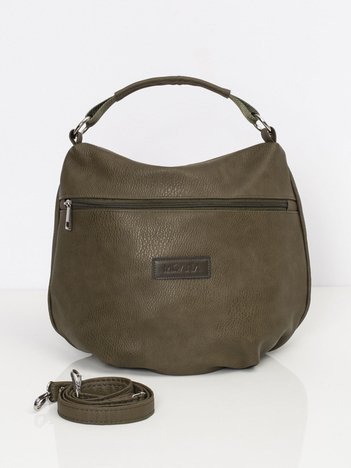 Khaki torebka z ekologicznej skóry