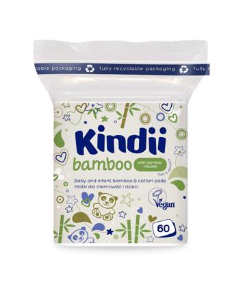 """Kindii Bamboo Bambusowe Płatki kosmetyczne dla dzieci i niemowląt  1op.-60szt"""""""