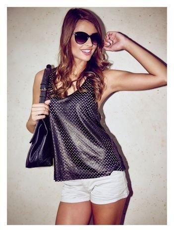 Klasyka i elegancja czarne okulary przeciwsłoneczne typu MUCHY ze srebrnym łańcuchem na zausznikach