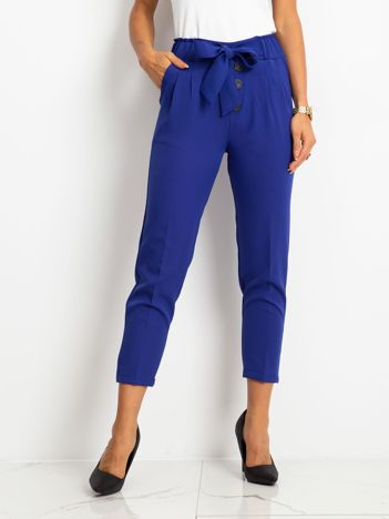 Kobaltowe spodnie Devon