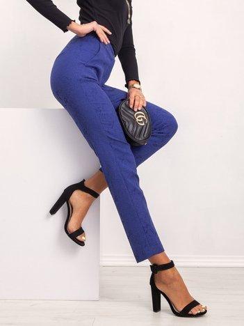 Kobaltowe spodnie Risky