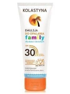 Kolastyna Opalanie Emulsja do opalania dla dzieci i dorosłych Family SPF 30  250 ml