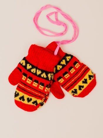 Kolorowe Dziecięce Rękawiczki Na Sznurku Z Jednym Palcem 11cm (0-3 lata)
