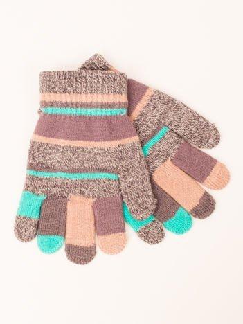 Kolorowe Dziecięce Rękawiczki Zimowe 15 cm (3-7 LAT)
