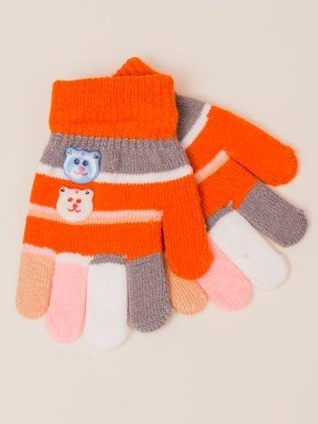 Kolorowe Dziecięce Rękawiczki Zimowe Z Ozdobami 13 cm(2-5 lat)