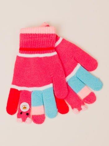 Kolorowe Dziecięce Rękawiczki z Misiem PACYNKĄ na Palcu