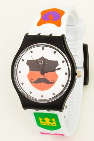 Kolorowy Zegarek  WĄSY