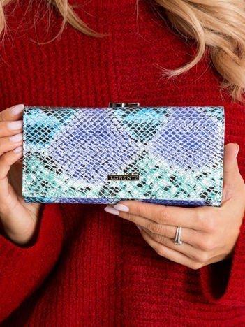 Kolorowy podłużny portfel skórzany