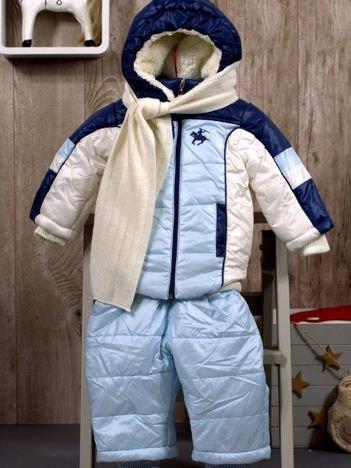 Komplet dziecięcy kurtka i kombinezon jasnoniebieski