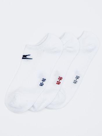 Komplet krótkie skarpety męskie sportowe z logo 3-pak