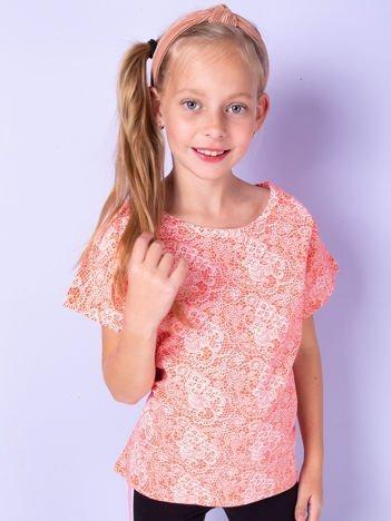 Koralowa bluzka dla dziewczynki