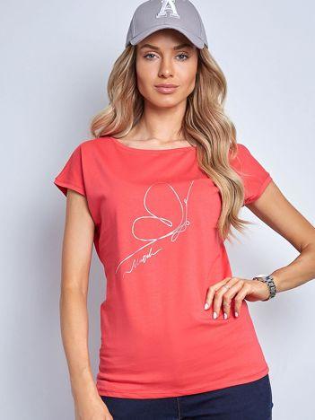 Koralowa koszulka Melodious