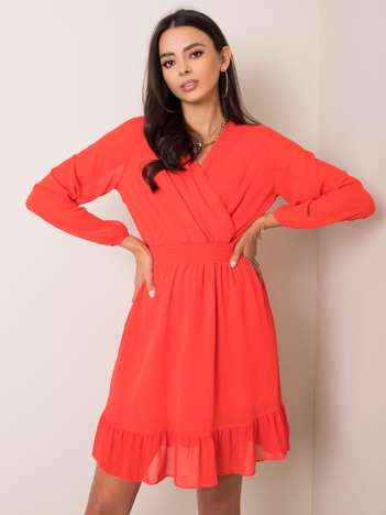 Koralowa sukienka Giovana RUE PARIS