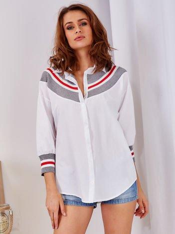 Koszula biała ze ściągaczem
