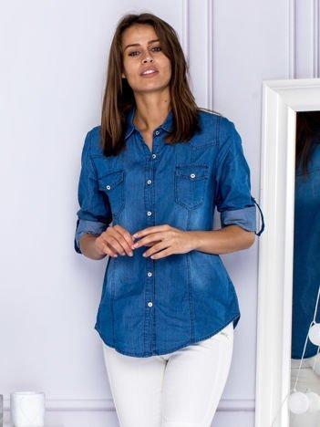 Koszula damska denimowa niebieska