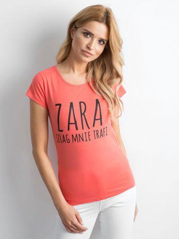 Koszulka damska z napisem pomarańczowa