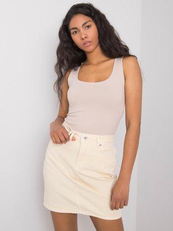 Kremowa spódnica jeansowa Clair STITCH & SOUL
