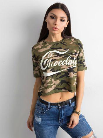Krótki t-shirt moro